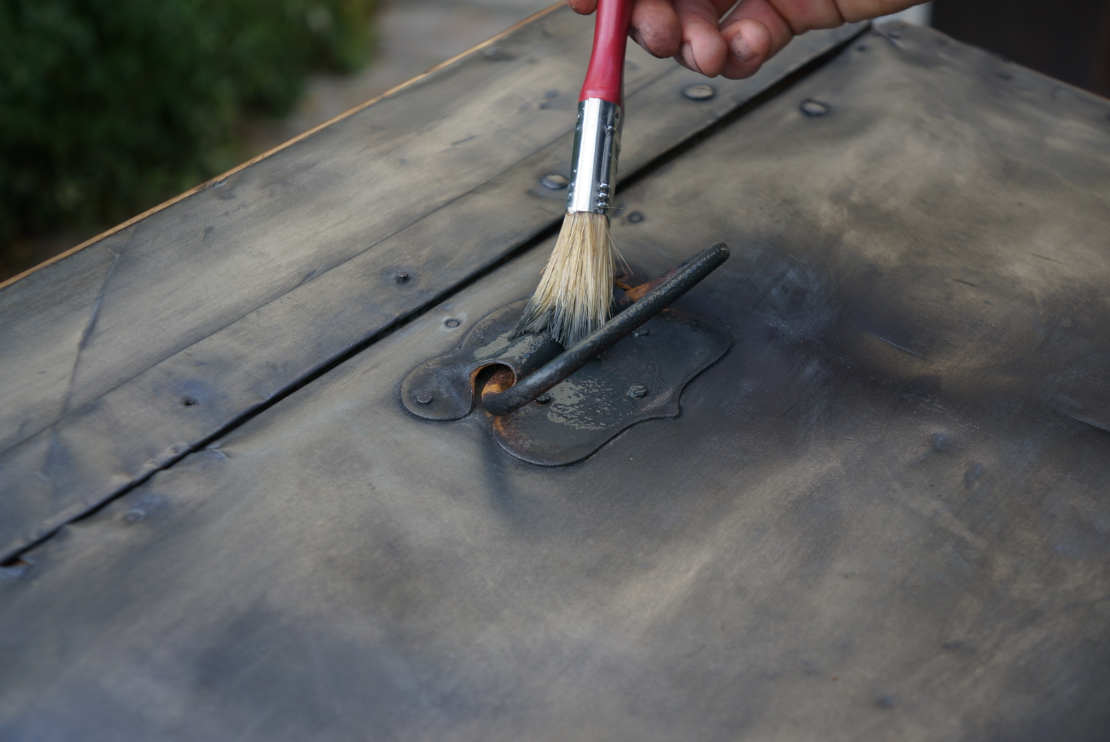 Peinture bois effet metal aixen provence design - Peinture a effet metal ...