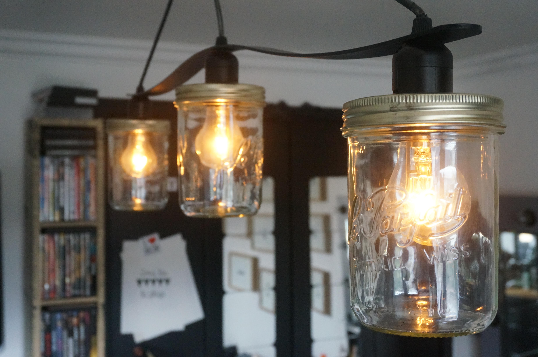 Diy la lampe parfaite bouillon de peinture - Lampe bocal le parfait ...
